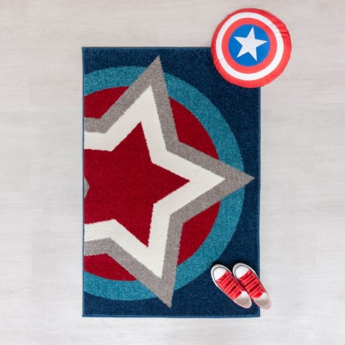 Play Days Hero Sheild Kids Rug 80 x 120cm