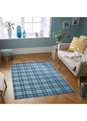 Cottage Cotton/Polyester Rug Blue 22 G