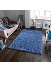 Elsa Shaggy Rug Denim Blue