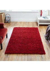 Elsa Shaggy Rug Red