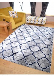 Trellis Rug Grey/Navy
