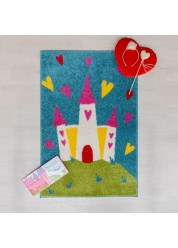 Play Days Princess Castle Kids Rug 80 x 120cm