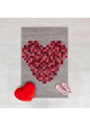 Play Days Pixel Heart Kids Rug 80 x 120cm
