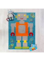 Play Days Robot Kids Rug 80 x 120cm