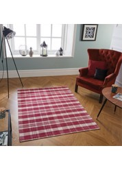 Cottage Cotton/Polyester Rug Red 21 S